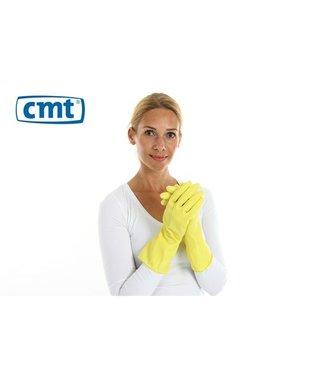CMT 12 paar huishoudhandschoen extra stevig rubber food approved geel