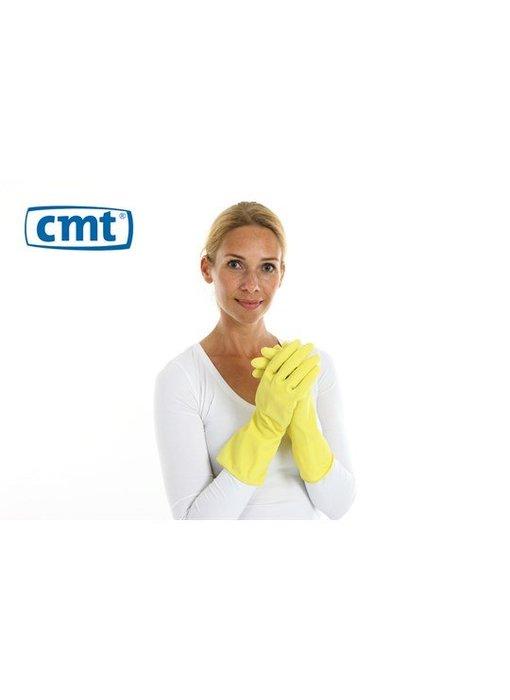 12 paar huishoudhandschoen extra stevig rubber food approved geel