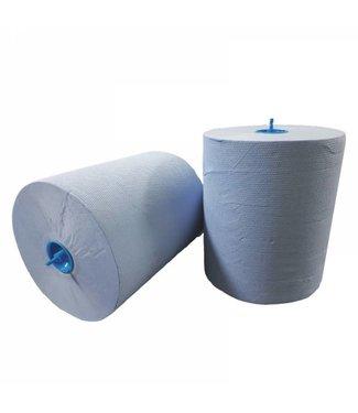 Eigen merk Handdoekrol Matic, 2-laags, cellulose blauw, 21cm, 6x 150M