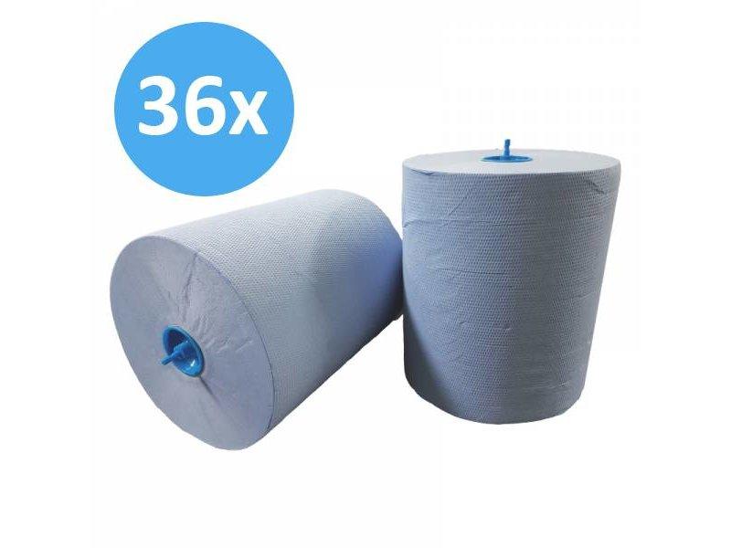 Eigen merk PALLET Handdoekrol Matic, 2-laags, cellulose blauw, 21cm