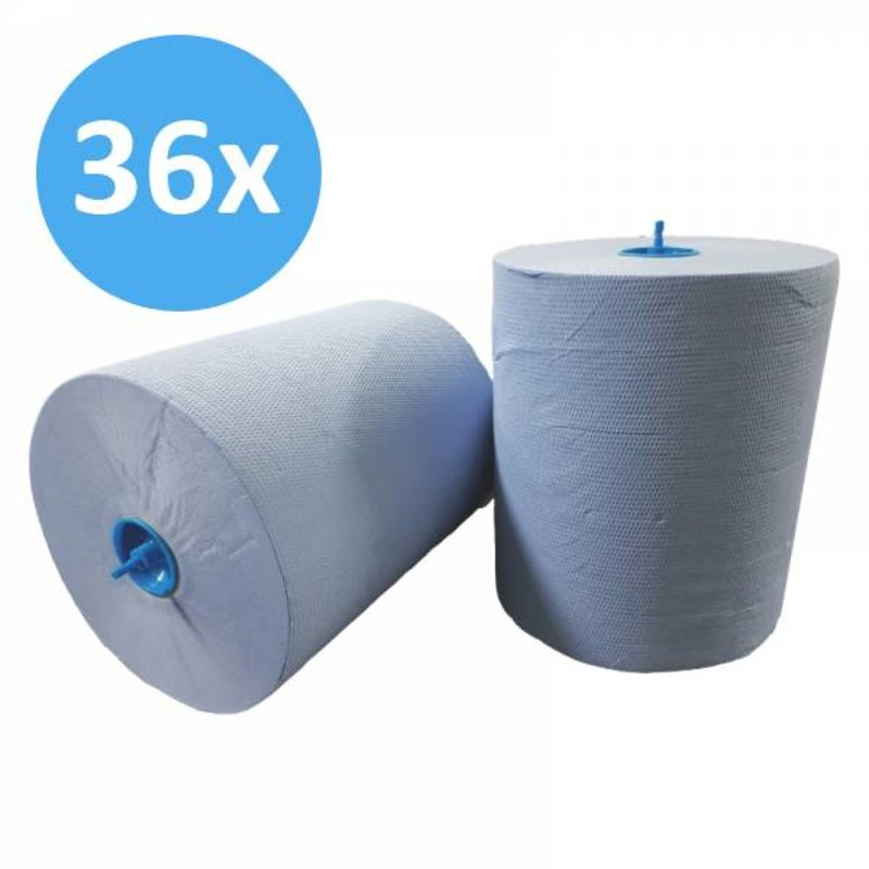 PALLET Handdoekrol Matic, 2-laags, cellulose blauw, 21cm