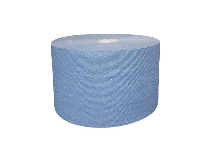 Eigen merk Uierpapier, 1000 vel. 22cm, 3-laags, tissue blauw, verlijmd, 2x 360M