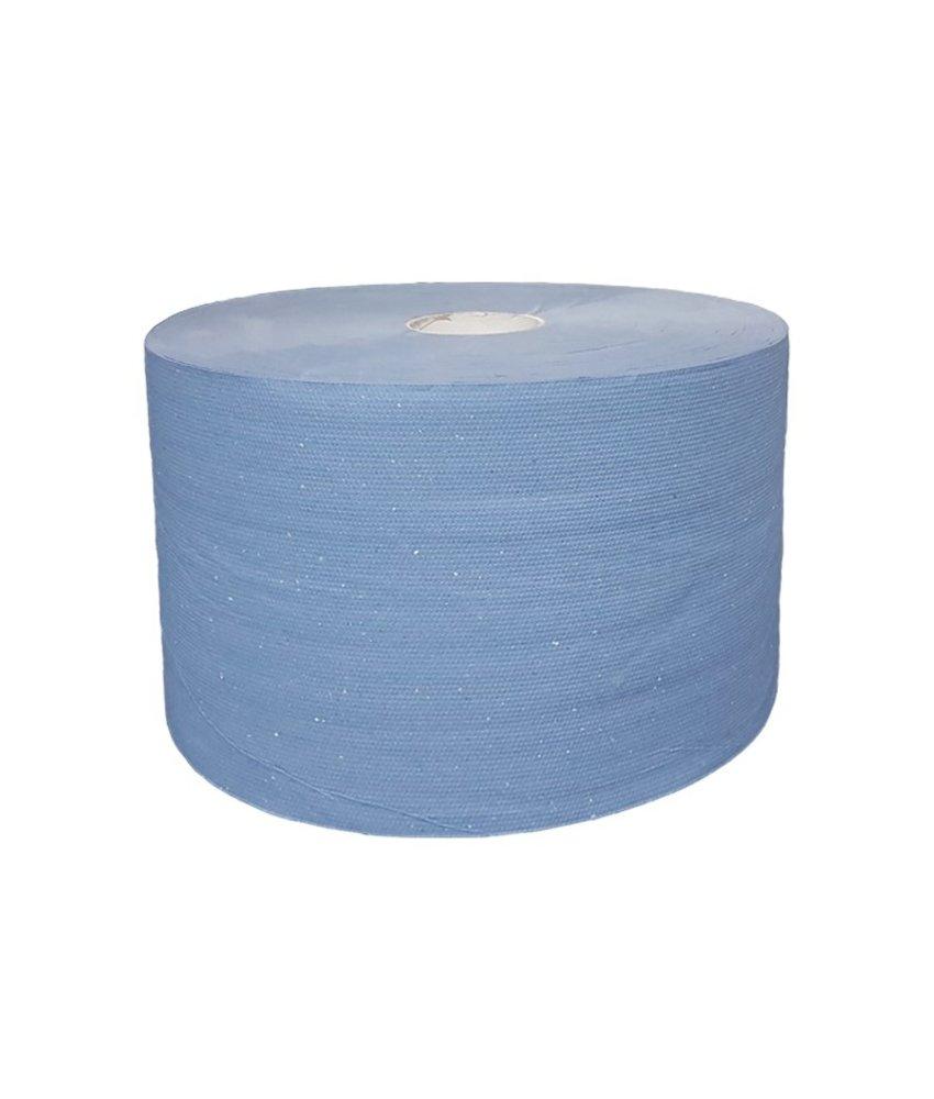 Uierpapier, 1000 vel. 22cm, 3-laags, tissue blauw, verlijmd, 2x 360M