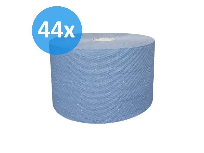 Eigen merk PALLET Uierpapier, 1000 vel. 22cm, 3-laags, tissue blauw, verlijmd