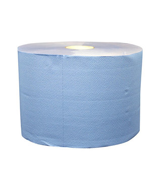 Eigen merk Uierpapier, 1000 vel. 22cm, 2-laags, tissue blauw, verlijmd, 2x 360M