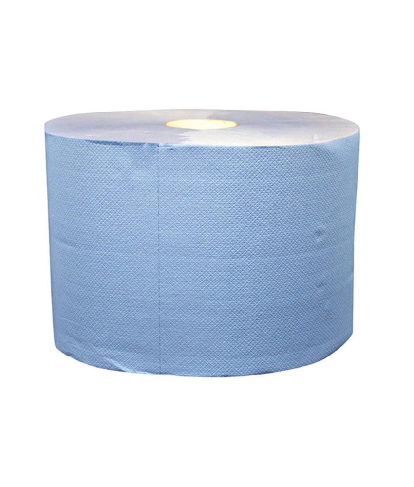 Uierpapier, 1000 vel. 22cm, 2-laags, tissue blauw, verlijmd, 2x 360M