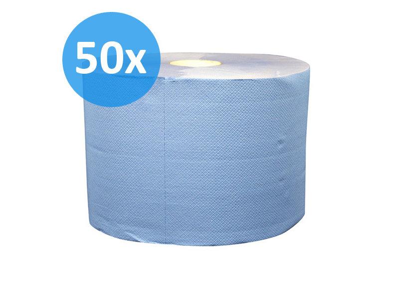 Eigen merk PALLET Uierpapier, 1000 vel. 22cm, 2-laags, tissue blauw, verlijmd