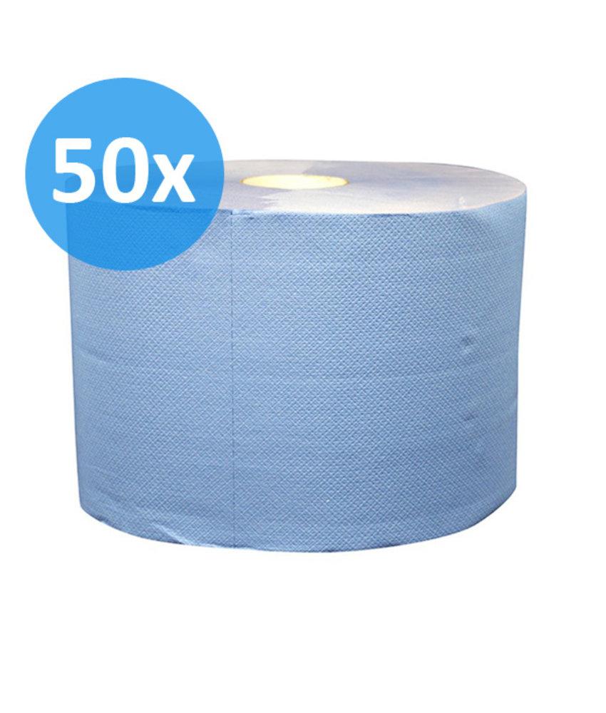 PALLET Uierpapier, 1000 vel. 22cm, 2-laags, tissue blauw, verlijmd