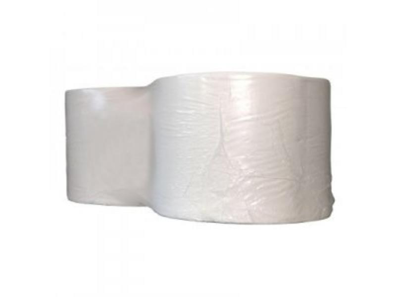 Eigen merk Industrierollen, 1000M, 24cm, 1-laags, cellulose, wit, 2 rollen