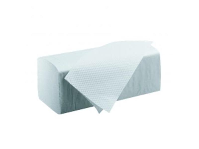 Eigen merk Vouwhanddoekjes Z-vouw, 2-laags, recycled tissue wit, 3200 stuks