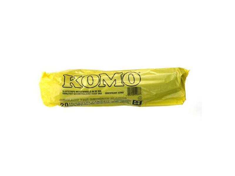 Eigen merk Huisvuilniszakken Kivo Komo 60x80cm, T50, Zwart (20 rollen)