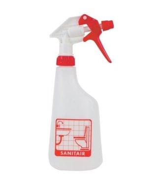 Eigen merk Sprayflacon 650ml sanitair - rood