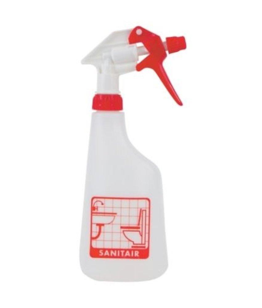 Sprayflacon 650ml sanitair - rood