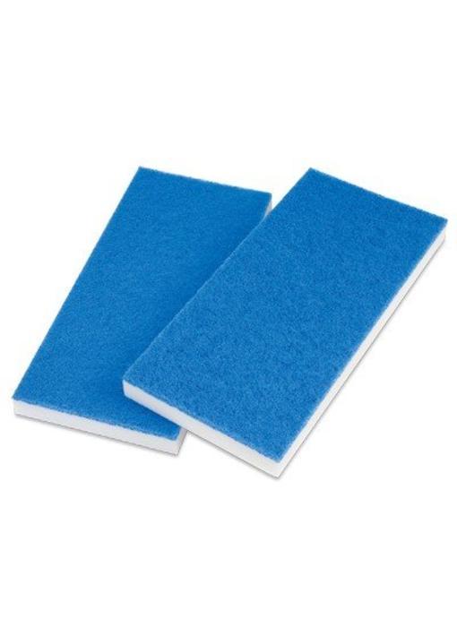 Melamine doodlebugpad wit-blauw
