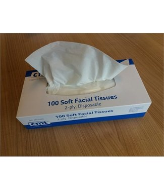 CMT CMT soft facial tissues, 2-laags, wit, 20x20cm, 36x100st