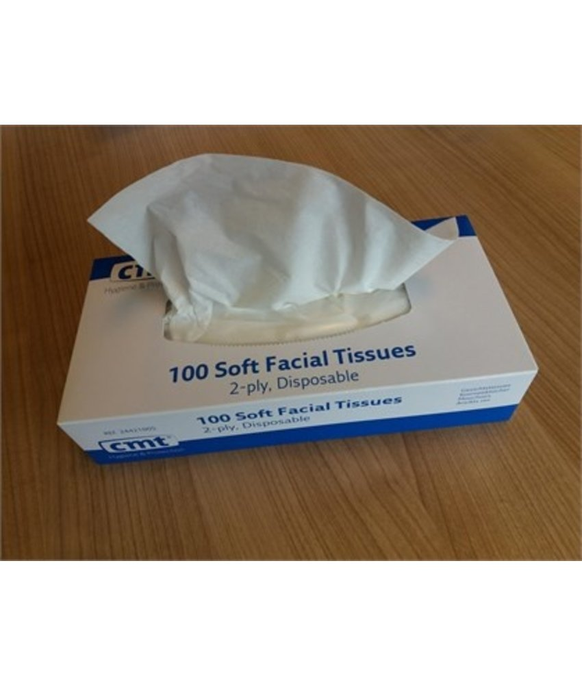 CMT soft facial tissues, 2-laags, wit, 20x20cm, 36x100st