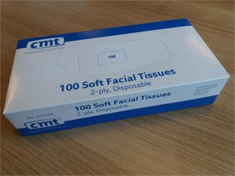 CMT CMT soft facial tissues, 2-laags, wit, 20x20cm, 36x100st