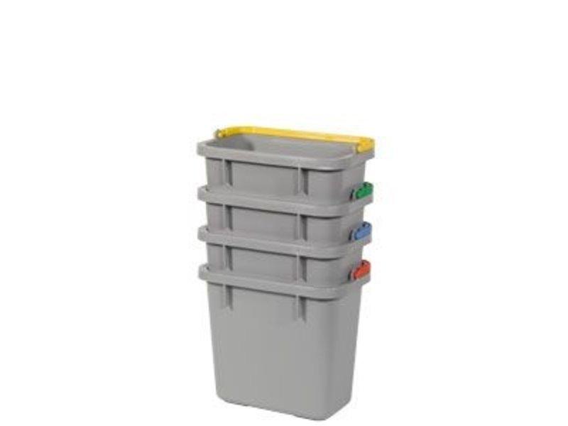 Grijze emmer 4,5 liter met rode hendel