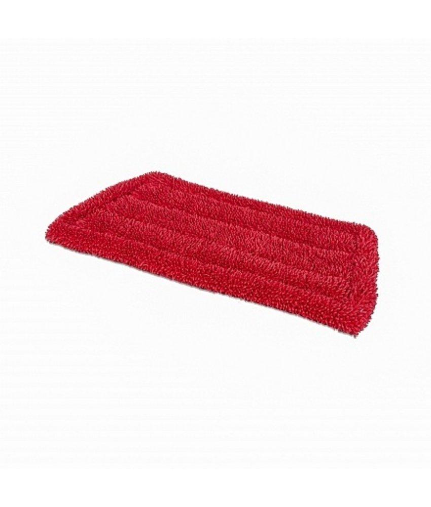 Microvezel vlakmop (klamvochtig) 23 cm rood