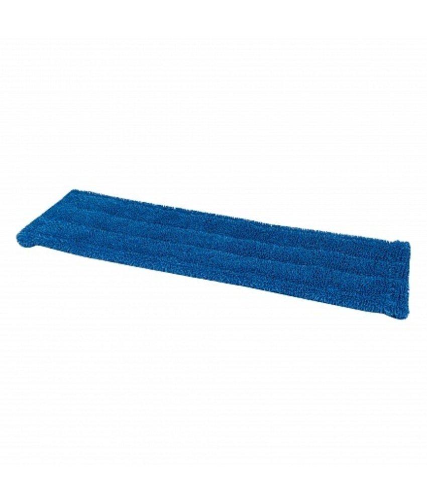 Microvezel vlakmop 40cm blauw met pockets en flaps
