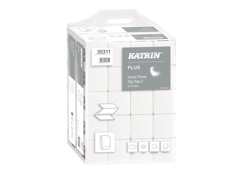 Katrin PALLET Katrin Plus ZZ-handdoekjes - 2-laags wit