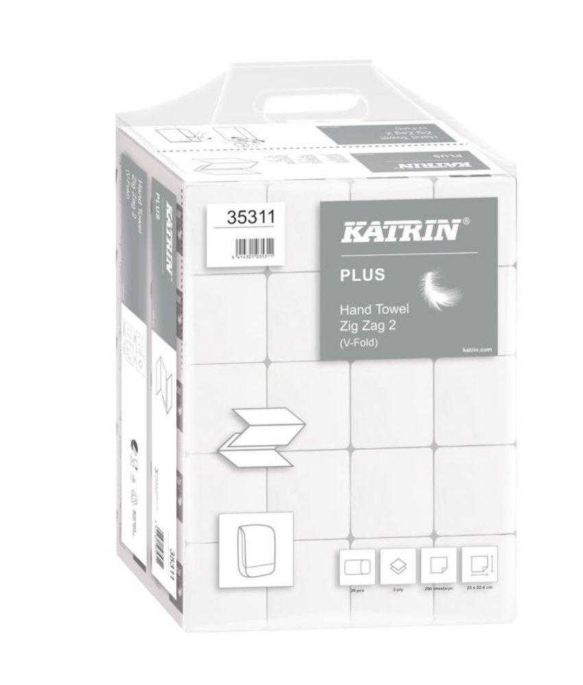 PALLET Katrin Plus ZZ-handdoekjes - 2-laags wit