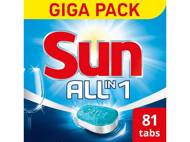Johnson Diversey Sun All-in-1 Normaal Tabletten 81 st.