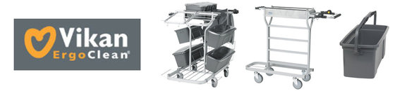 Trolley's voor vloer- en interieurreiniging