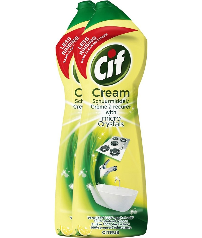 Cif Cream Schuurmiddel Citroen 2 x 750ml