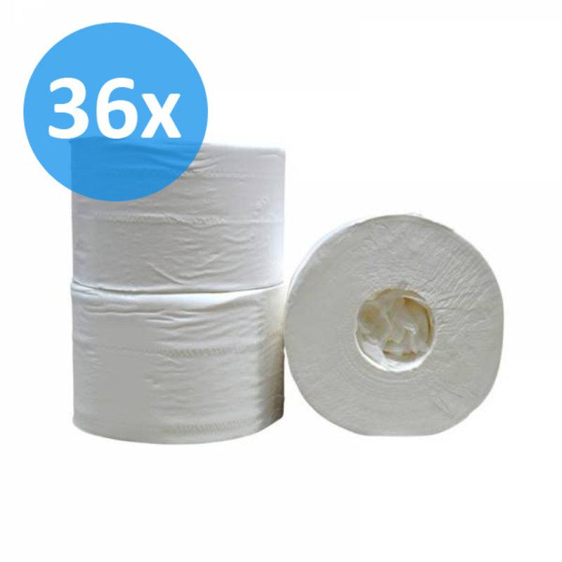 Toiletpapier Coreless 2-laags, cellulose wit, 472 vel
