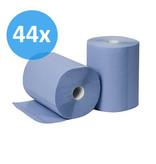 Eigen merk PALLET Poetsrollen Midi, 6x 135M, 2-laags, cellulose, blauw, geperforeerd - FOOD SAFETY
