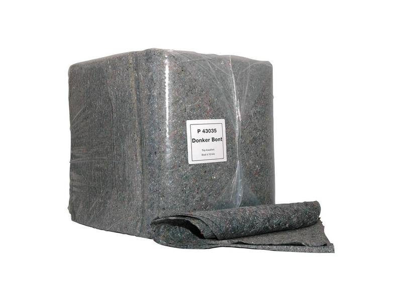 Poetsdoeken donkerbont, 40x40cm, zak 10KG