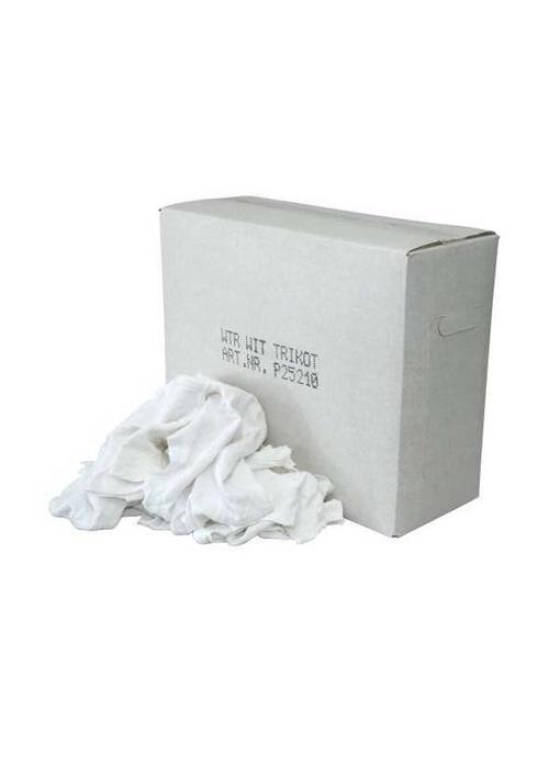 Witte Tricot Poetslappen - Doos 9 KG