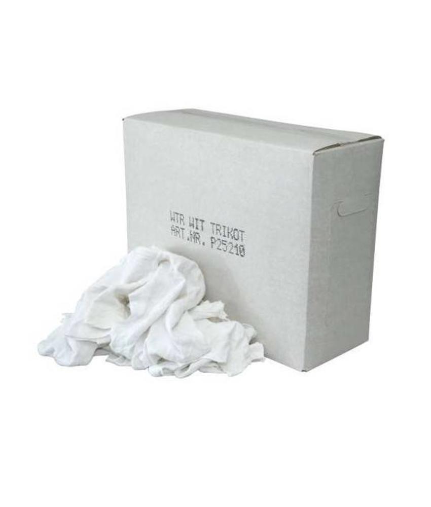 Witte Tricot Poetslappen - Doos 10 KG