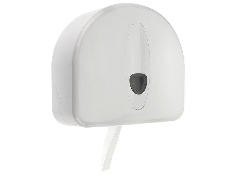 PlastiQline 2020 Jumboroldispenser mini + restrol kunststof wit