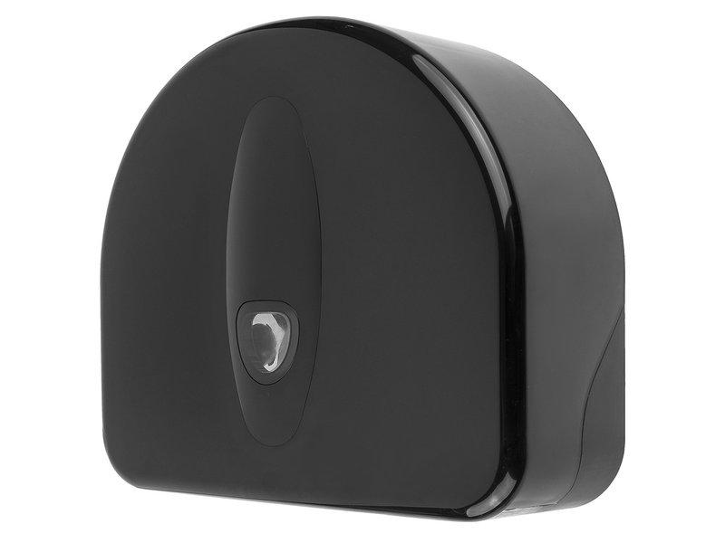 PlastiQline 2020 Jumboroldispenser mini + restrol kunststof zwart