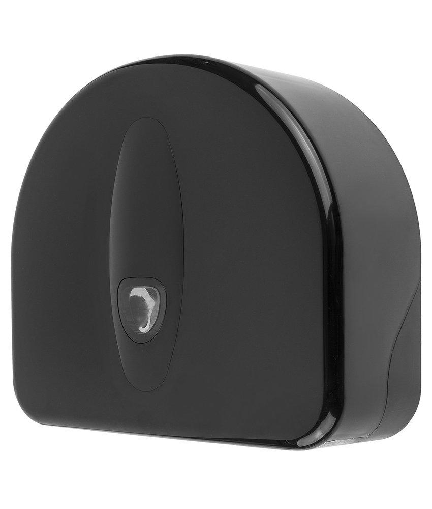 Jumboroldispenser mini + restrol kunststof zwart