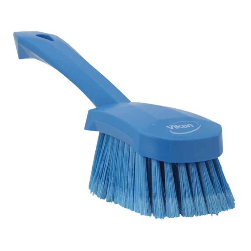 Vikan Afwasborstel met korte steel, zacht, 270x70x85mm blauw