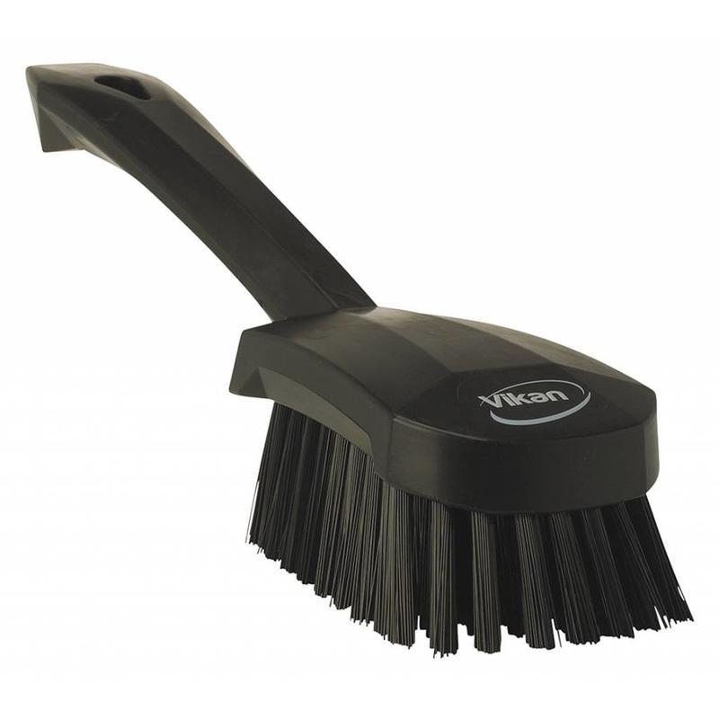 Vikan Afwasborstel met korte steel, 270x70x85mm, zwart