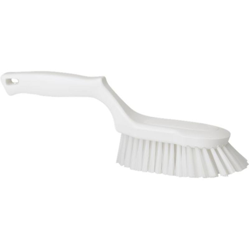 Vikan Ergonomische handborstel polyester vezels, hard 330x95x110mm wit