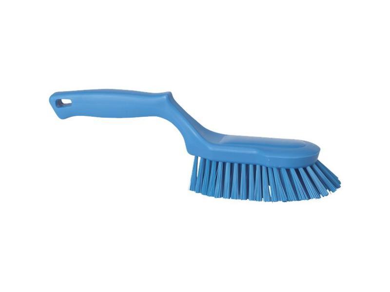 Vikan Vikan Ergonomische handborstel polyester vezels, hard 330x95x110mm blauw