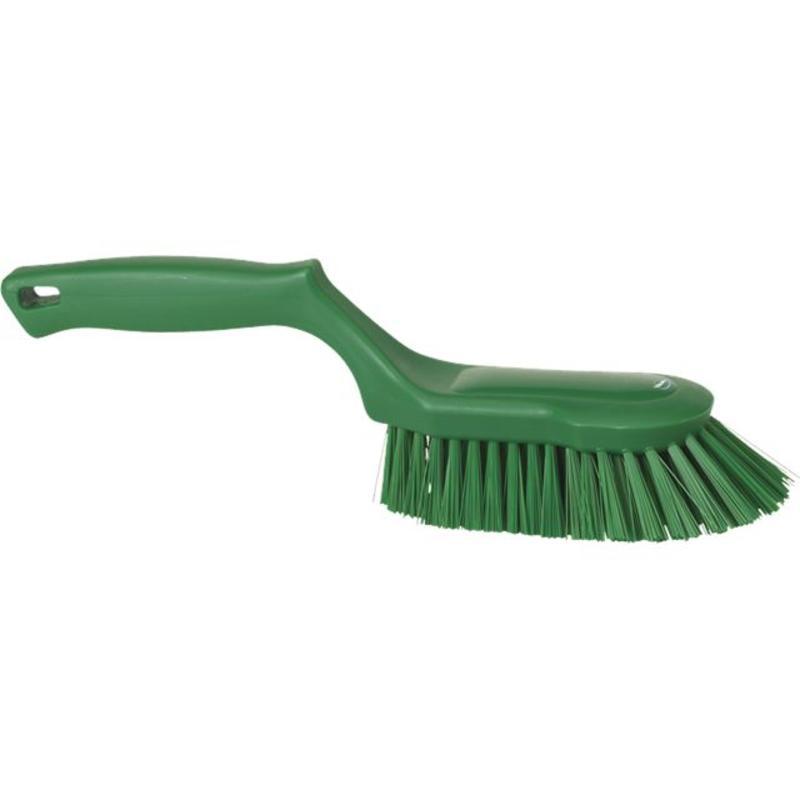 Vikan Ergonomische handborstel polyester vezels, hard 330x95x110mm groen