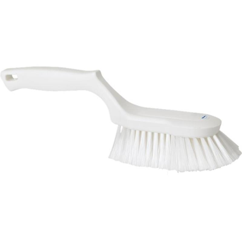 Vikan Ergonomische handborstel polyester vezels, zacht, 330x105x110mm wit