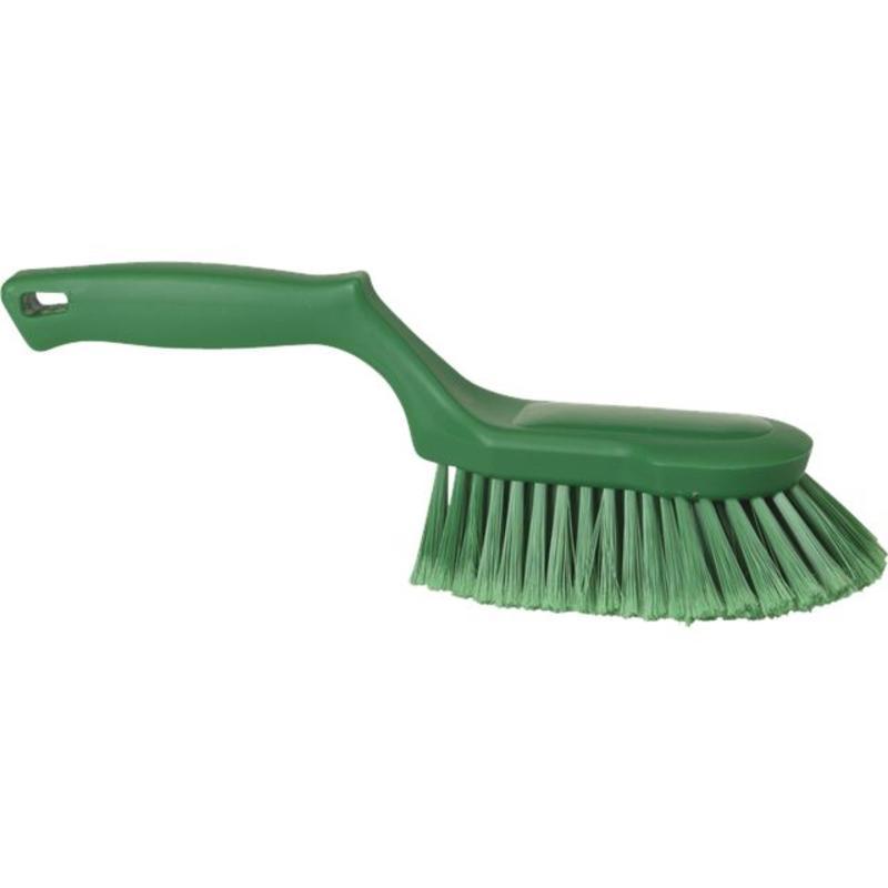 Vikan Ergonomische handborstel polyester vezels, zacht, 330x105x110mm groen