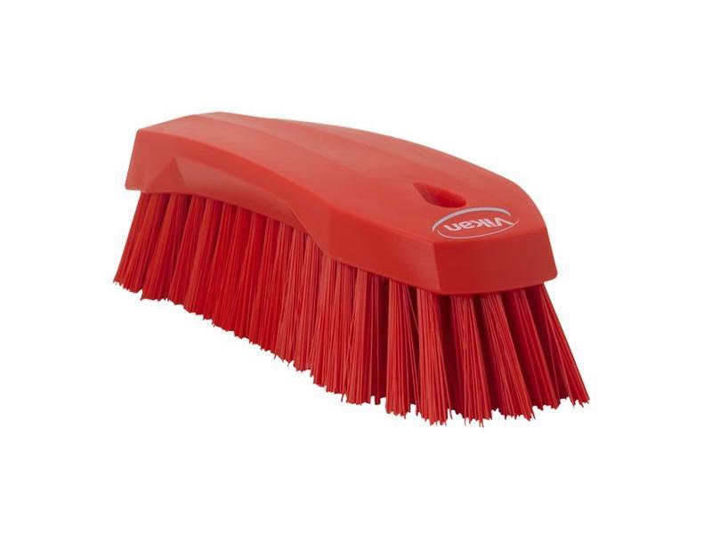 Vikan Vikan Grote werkborstel polyester vezels, hard 200x70x60mm rood