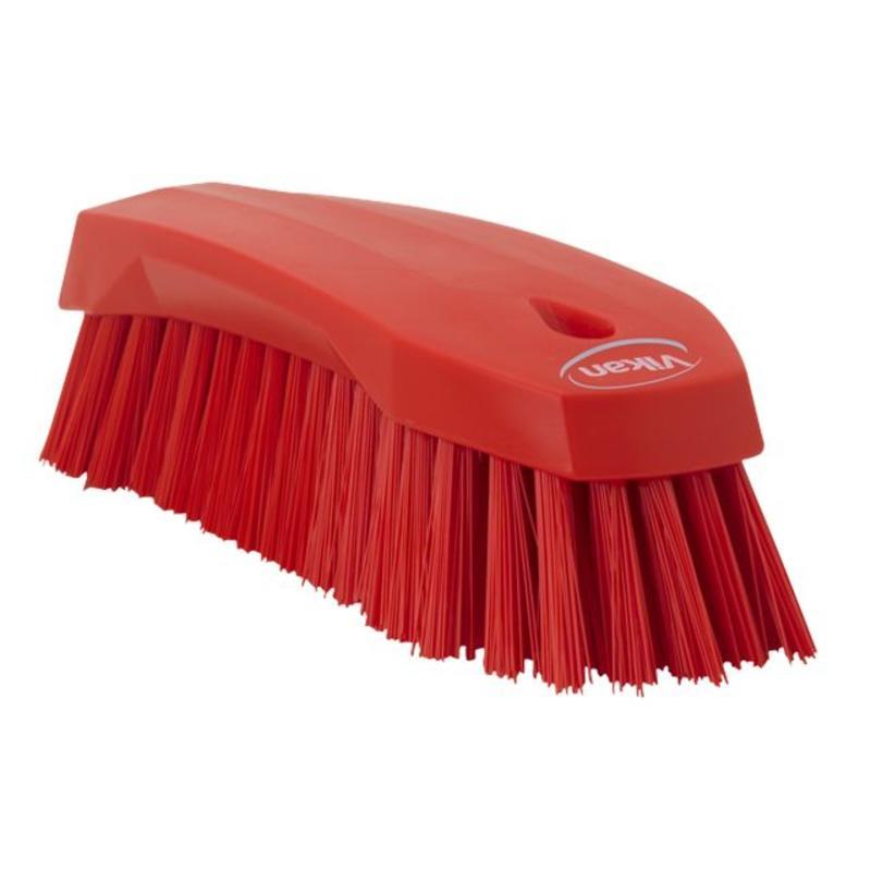 Vikan Grote werkborstel polyester vezels, hard 200x70x60mm rood