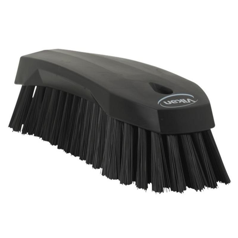 Vikan Grote werkborstel polyester vezels, hard 200x70x60mm zwart