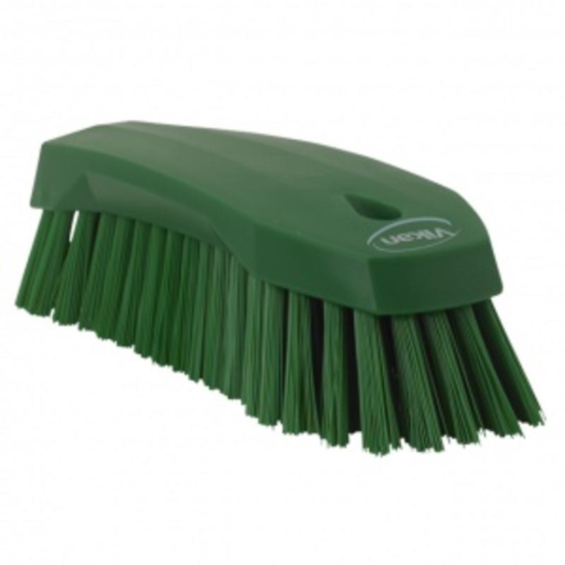 Vikan Grote werkborstel polyester vezels, hard 200x70x60mm groen