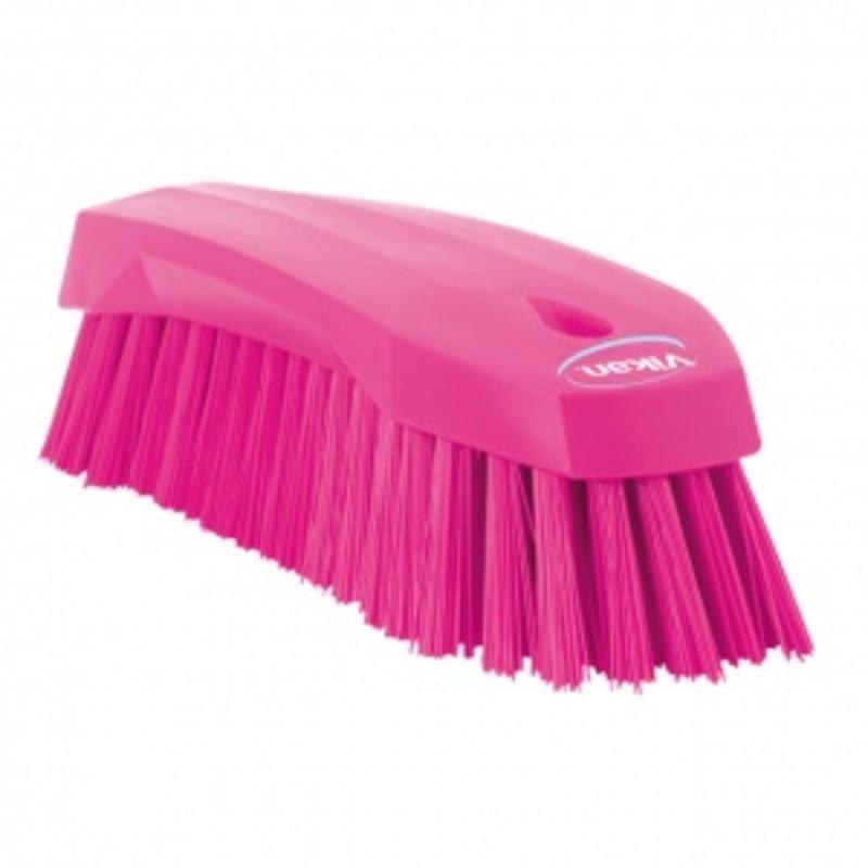 Vikan Grote werkborstel polyester vezels, hard 200x70x60mm roze
