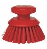 Vikan Vikan Ronde werkborstel polyester vezels, hard Ø110x110mm rood